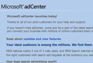Microsoft launch adCenter self-serve advertising service