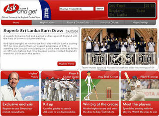 Ask.com launch exclusive cricket site for summer tour