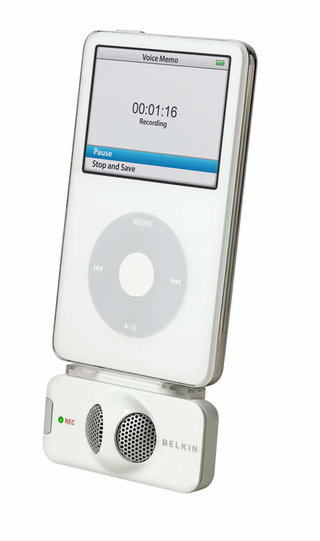 Belkin TuneTalk Stereo for iPod records in stereo
