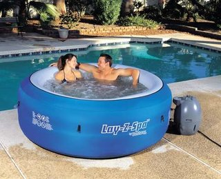 Lay-z-Spa offers portability with its inflatable hot tub