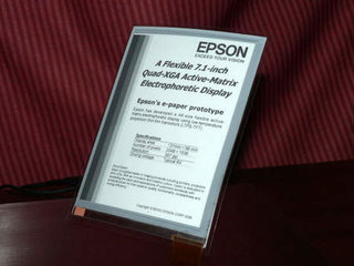 Epson shows off its A6 electronic paper