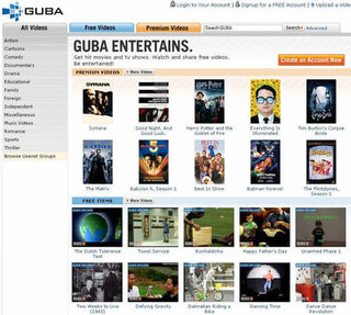 Guba.com to distribute Warner Brothers films for a fee