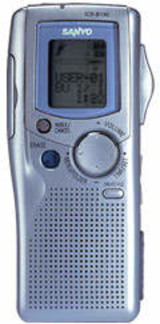 ICR 1000 voice recorder from Sanyo promises over 35 hours of recording time