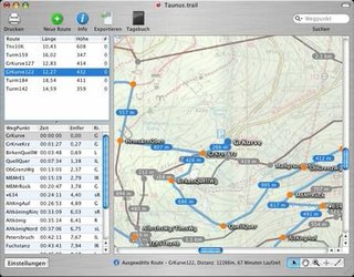 TrailRunner route planning for iPod and phones