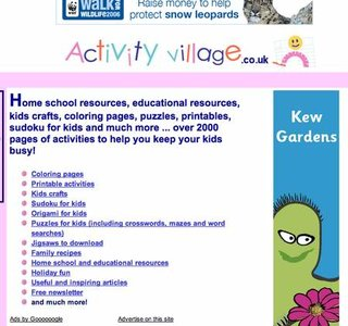 WEBSITE OF THE DAY - activityvillage.co.uk