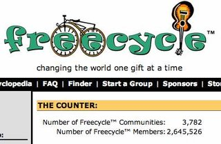 WEBSITE OF THE DAY - freecycle.org