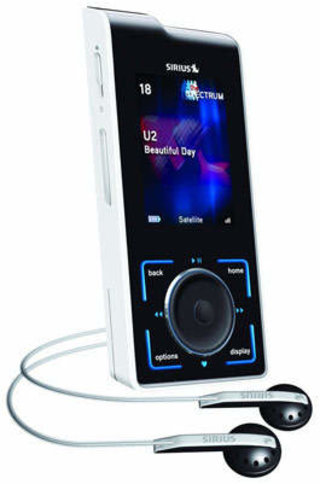 Sirius satellite radio launches Stiletto 100 portable player