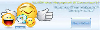Yahoo Messenger and Windows Live Messenger start to chat