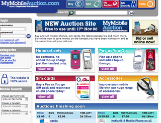 Carphone Warehouse launch dedicated phone auction website