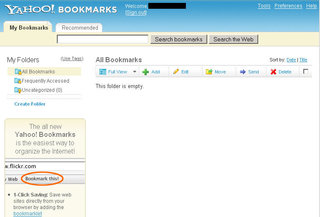 Yahoo updates Yahoo Bookmarks in beta
