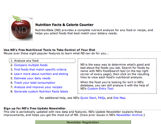 WEBSITE OF THE DAY - nutritiondata.com