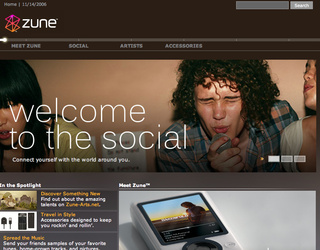 WEBSITE OF THE DAY – zune.net