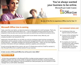Office Live beta to launch in the UK on 21 November