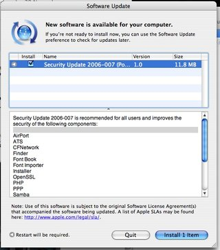 Apple releases Security Update 2006-2007