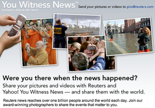 Reuters and Yahoo to pay citizen journalists for contributions