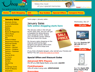 WEBSITE OF THE DAY – shopsafe.co.uk/ January_sales.htm