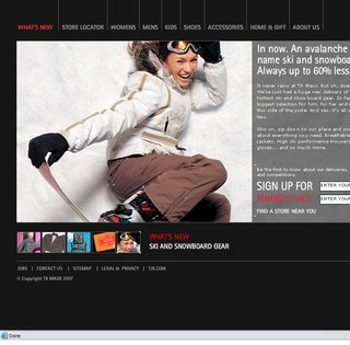 TK Maxx sports all the latest labels in ski and snowboard wear