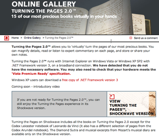 "British Library launches updated ""Turning the Pages"" for Vista"
