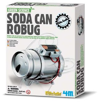 Soda Can Robug turns your drinks can into a robot