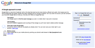 Googlemail opened to general public in UK and USA