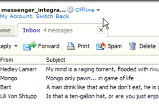 Yahoo integrates Messenger into Mail