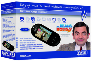Sweex sell portable media player with Mr Bean