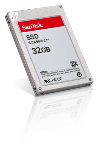 SanDisk announce 32GB Solid State Drive for laptops