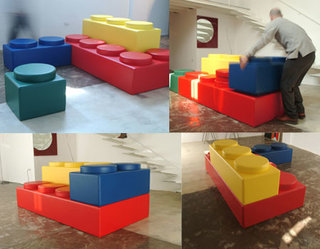 Lego furniture lets you rebuild your lounge