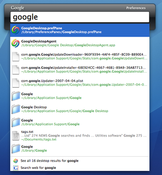 Mac users get Google Desktop