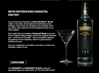Smirnoff launch booze fuelled photography competition