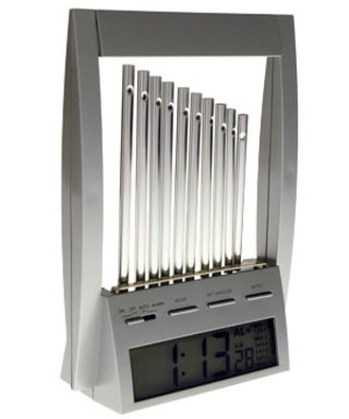 Wind chime alarm clock clangs you out of your slumber