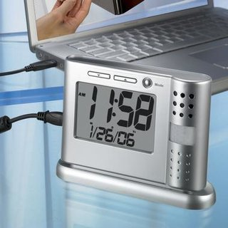 Clock becomes security recorder