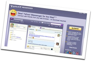 Yahoo Messenger integrates IM into browser