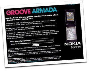 Nokia and Vodafone offer Groove Armada exclusive
