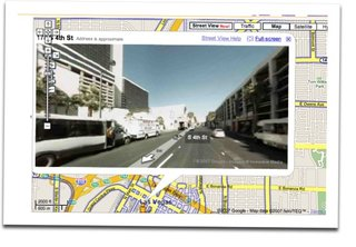 Google offering street level views in Google Maps