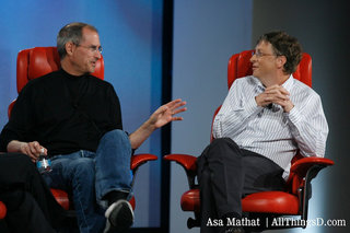 Bill Gates and Steve Jobs, together on stage