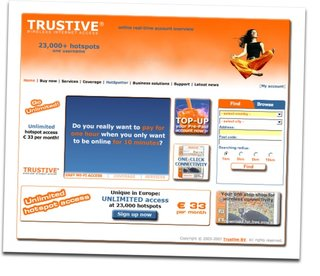 Trustive launches worldwide unlimited hot spot access plan