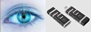 Irikon USB flash drive with iris scanning security