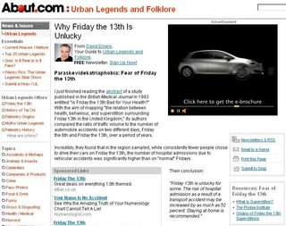 WEBSITE OF THE DAY - urbanlegends.about.com