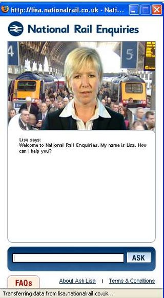 "National Rail launches ""Lisa"" a virtual human site assistant-bot"