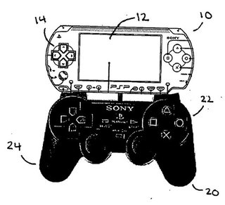 Sony's PSP docks to PS2 controller patent