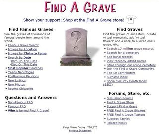 WEBSITE OF THE DAY - findagrave.com