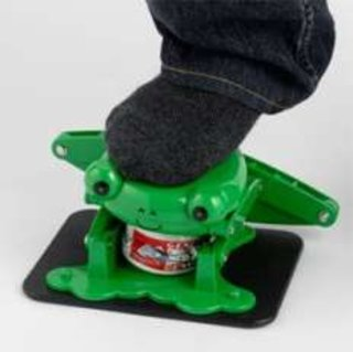 Crush your cans with a frog