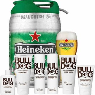 Win Heineken and Bulldog grooming products for chatting