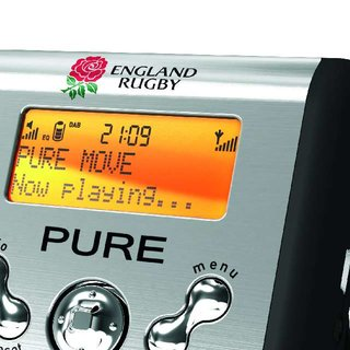 "Official ""England Rugby Edition"" DAB radio from Pure"