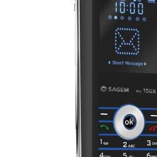 Sagem my150x mobile phone with retro design influences