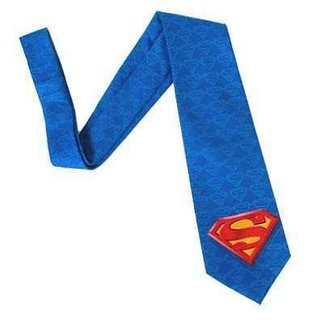 Superman tie - just in case your colleagues are in any doubt