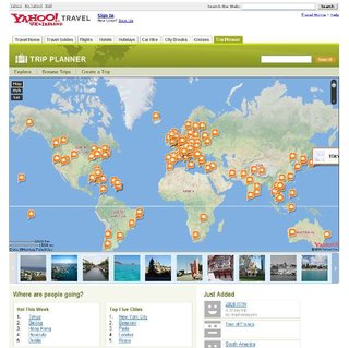 Yahoo Trip Planner available in the UK