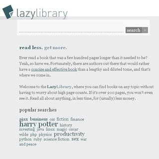 WEBSITE OF THE DAY - lazylibrary.com