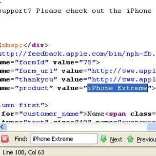"iPhone ""Extreme"" spotted in site source code"